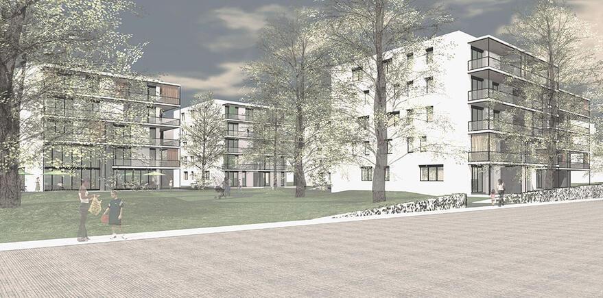 06 wohnanlage im park konzepte projekte home bauraum architekten. Black Bedroom Furniture Sets. Home Design Ideas